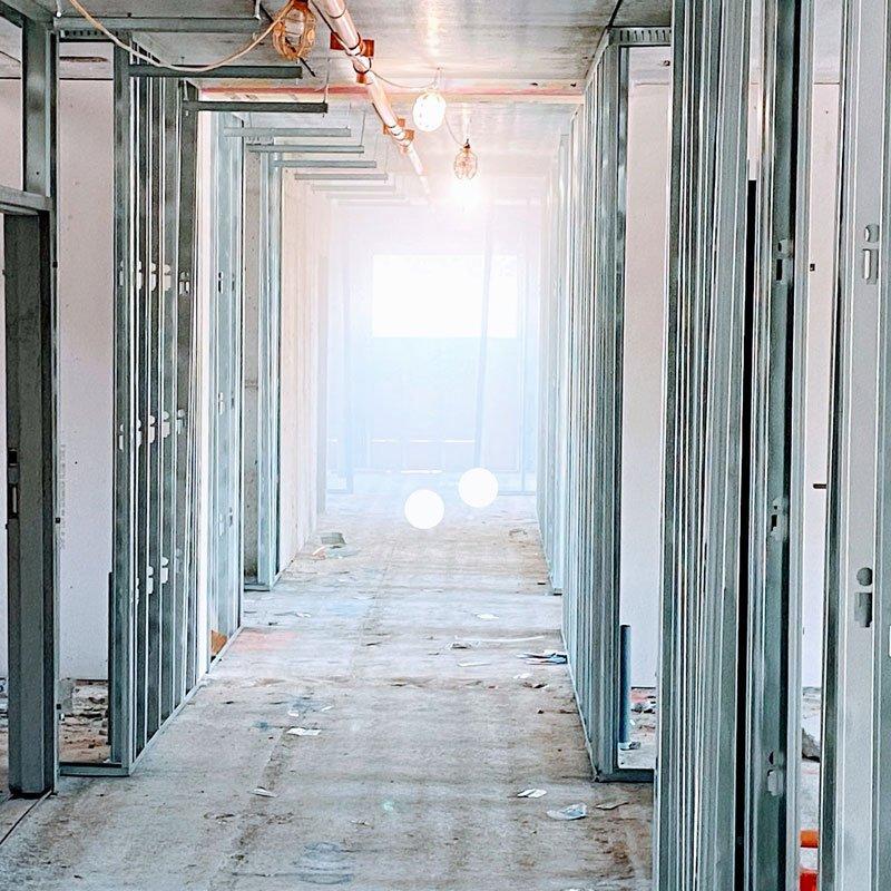 3PS Contracting Hallway Steel Framing